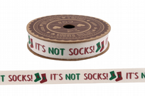 It's Not Socks! 5m Christmas Cotton Ribbon